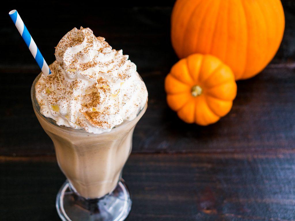 Healthy pumpkin  milkshake