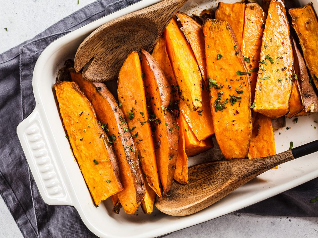 healthy foods: sweet potatoes